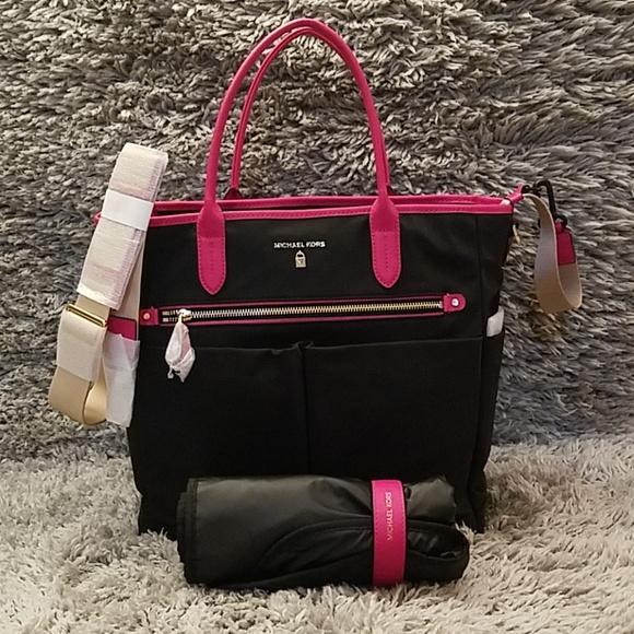 5b2ab4e14b808 Michael Kors NWT Nylon Kelsey Diaper Bag